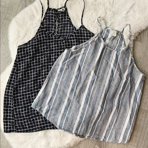 PAPER CRANE Strappy Tank Tops Set of Two